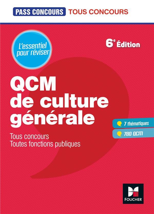 PASS'CONCOURS - QCM DE CULTURE GENERALE - TOUS CONCOURS - REVISION ET ENTRAINEMENT