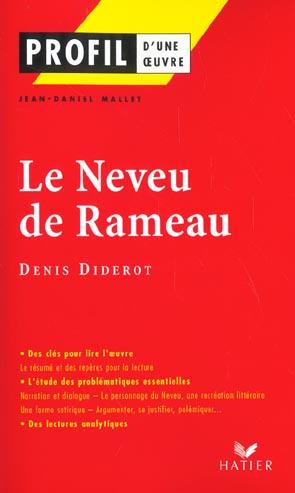 PROFIL - DIDEROT (DENIS) : LE NEVEU DE RAMEAU