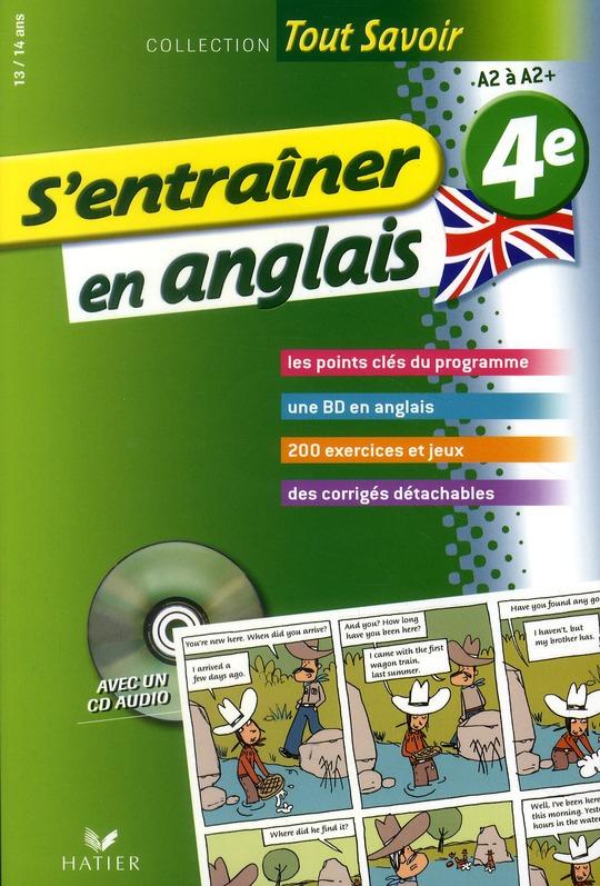 S'ENTRAINER EN ANGLAIS 4E  - TOUT SAVOIR