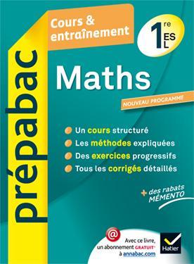 MATHS 1RE ES, L - PREPABAC COURS & ENTRAINEMENT