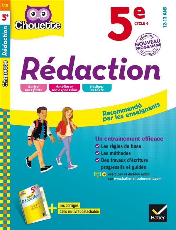REDACTION 5E - CAHIER D'ENTRAINEMENT ET DE REVISION