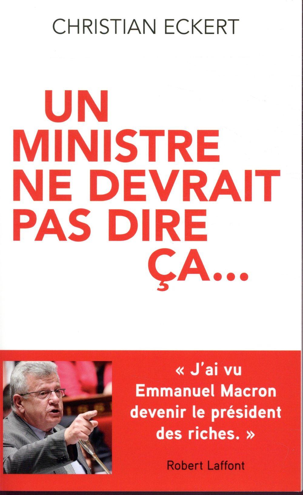 UN MINISTRE NE DEVRAIT PAS DIRE CA...