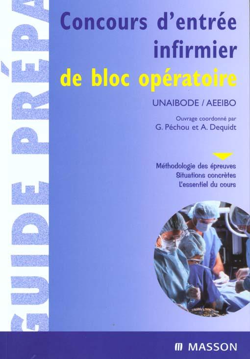CONCOURS D'ENTREE INFIRMIER DE BLOC OPERATOIRE