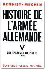 HISTOIRE DE L'ARMEE ALLEMANDE - TOME 5