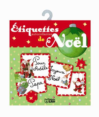ETIQUETTES ROUGES CADEAUX NOEL