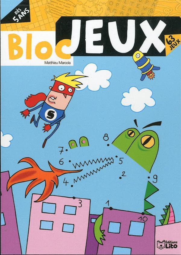 BLOC JEUX RIGOLO - 5 ANS