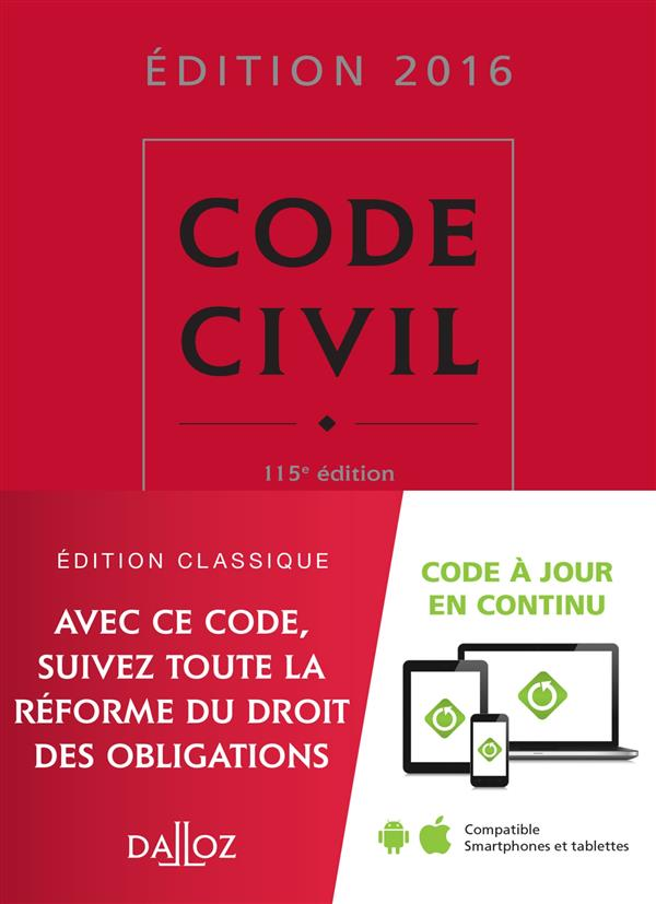 CODE CIVIL 2016 - 115E ED.