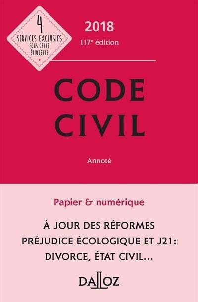 CODE CIVIL 2018, ANNOTE - 117E ED.