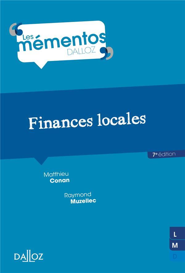 FINANCES LOCALES - 7E ED.