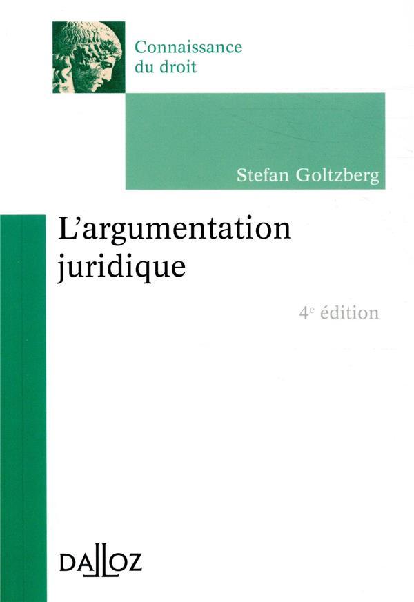L'ARGUMENTATION JURIDIQUE - 4E ED.