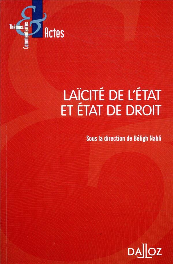 LAICITE DE L'ETAT ET ETAT DE DROIT - NOUVEAUTE
