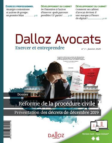 DALLOZ AVOCATS - REFORME DE LA PROCEDURE CIVILE