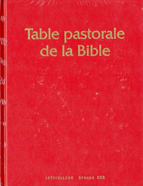 TABLE PASTORALE DE LA BIBLE