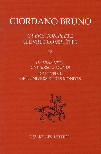 DE L'INFINI DE L'UNIVERS ET DES MONDES(NOUV.ED.)