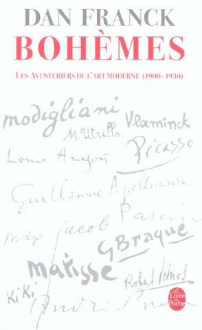 BOHEMES - LES AVENTURES DE L'ART MODERNE 1900- 1930
