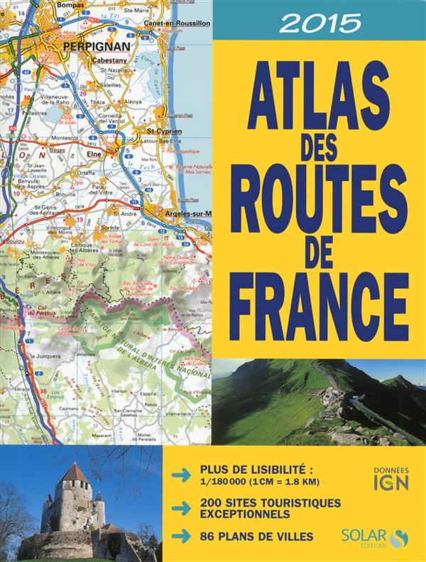 ATLAS DES ROUTES DE FRANCE 2015