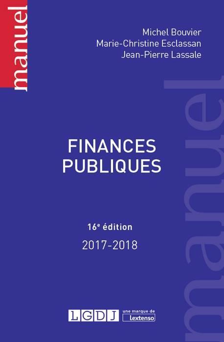 FINANCES PUBLIQUES 16EME EDITION