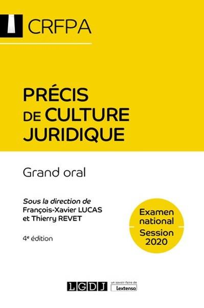 PRECIS DE CULTURE JURIDIQUE - GRAND ORAL