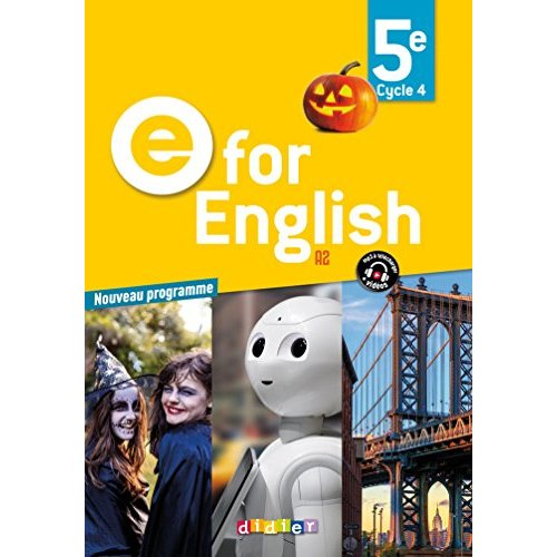 E FOR ENGLISH 5E (ED. 2017) - COFFRET CLASSE 2 CD AUDIO + 1 DVD
