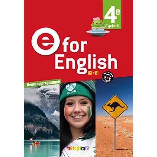 E FOR ENGLISH 4E (ED. 2017) - COFFRET CLASSE 2 CD AUDIO + 1 DVD