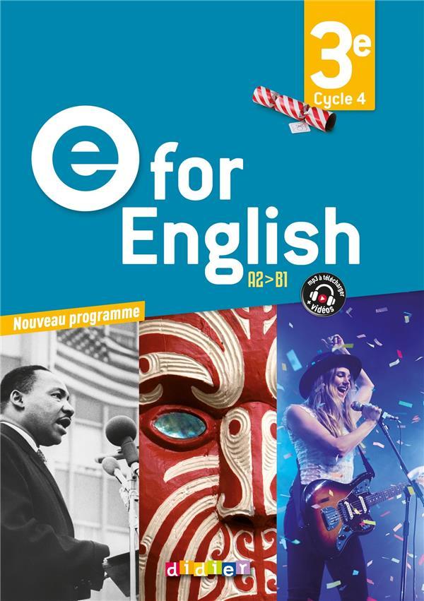 E FOR ENGLISH 3E (ED. 2017) - COFFRET CLASSE 2 CD AUDIO + 1 DVD