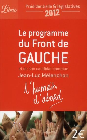 LE PROGRAMME DU FRONT DE GAUCHE