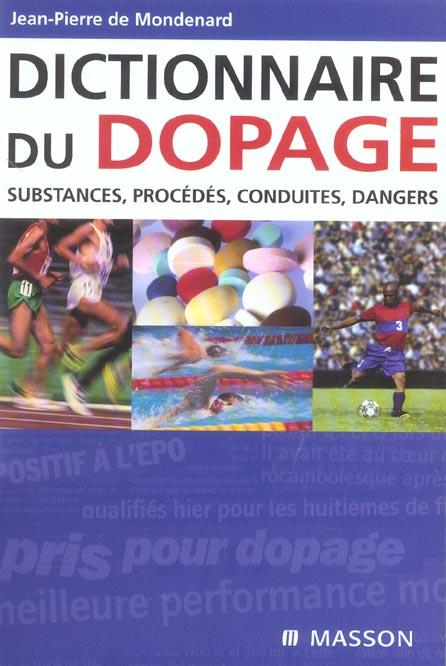 DICTIONNAIRE DU DOPAGE