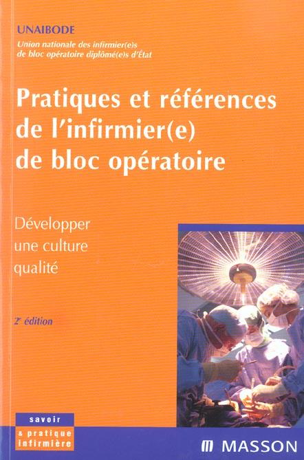PRATIQUES ET REFERENCES DE L'INFIRMIERE DE BLOC OPERATOIRE - POD