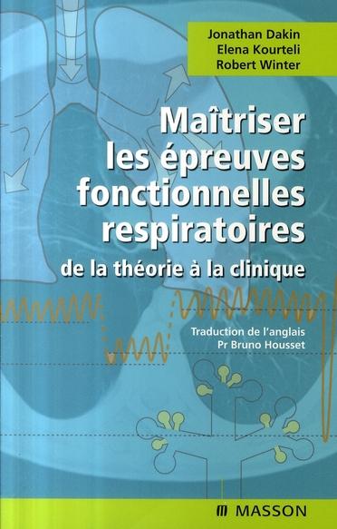 MAITRISER LES EPREUVES FONCTIONNELLES RESPIRATOIRES