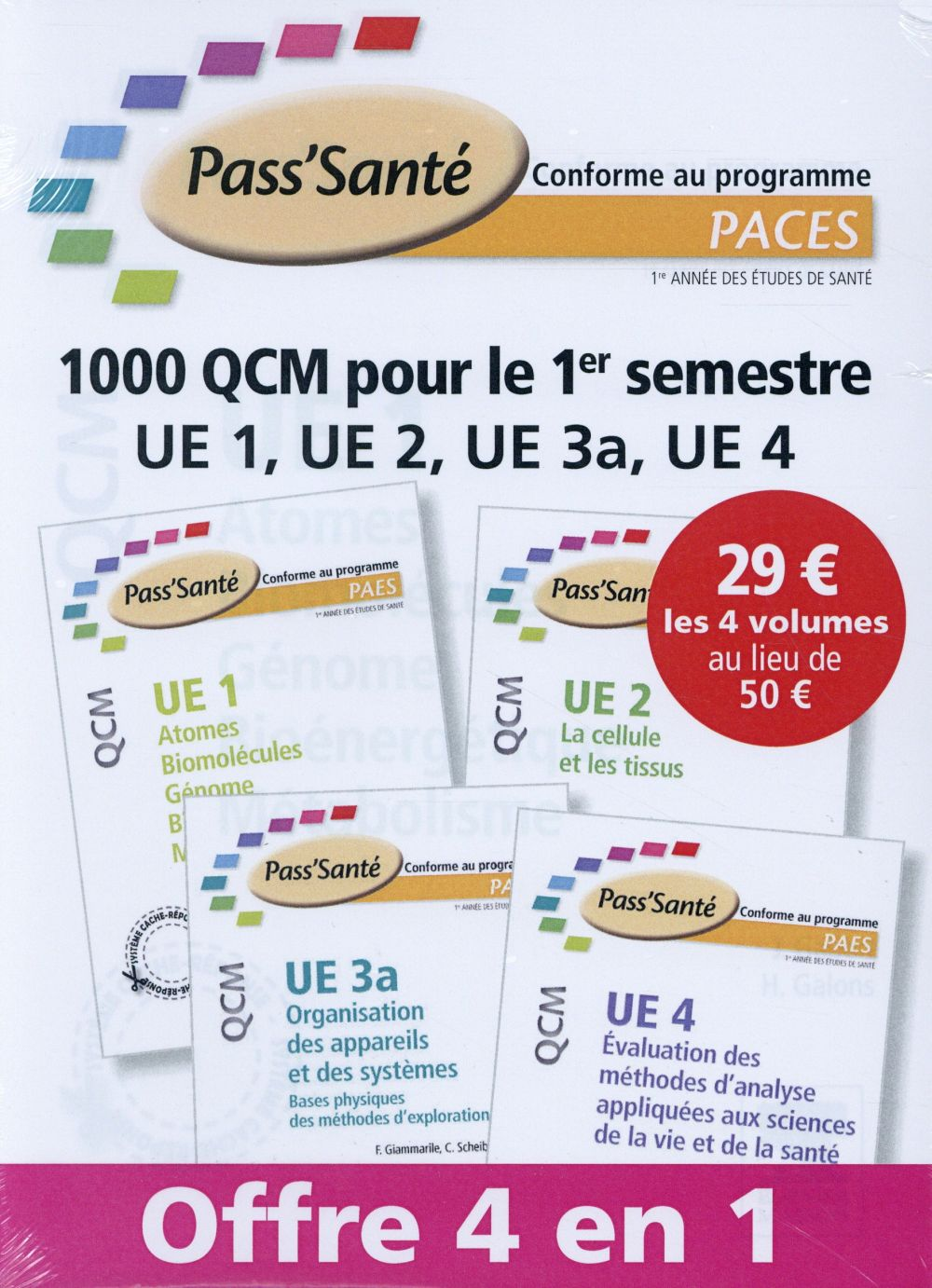 PACK 4 EX MASSON QCM PACES SEMESTRE 1