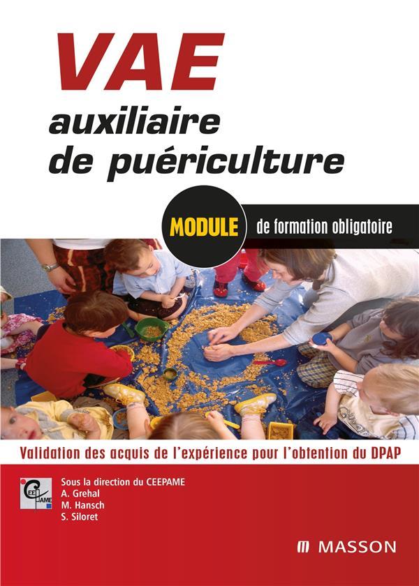 VAE AUXILIAIRE DE PUERICULTURE - VALIDATION DES ACQUIS DE L'EXPERIENCE POUR L'OBTENTION DU DEAP