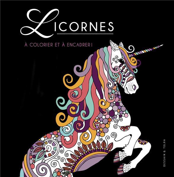 LICORNES - A COLORIER ET A ENCADRER !