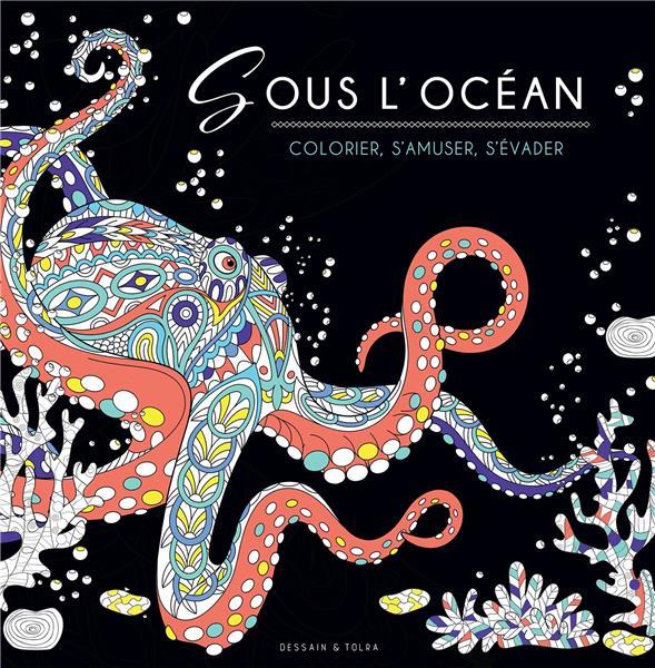 BLACK COLORIAGE - SOUS L'OCEAN