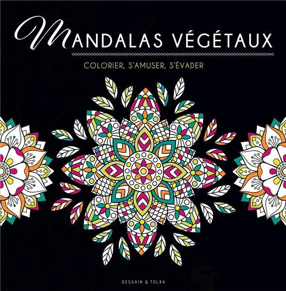 BLACK COLORIAGE - MANDALAS VEGETAUX