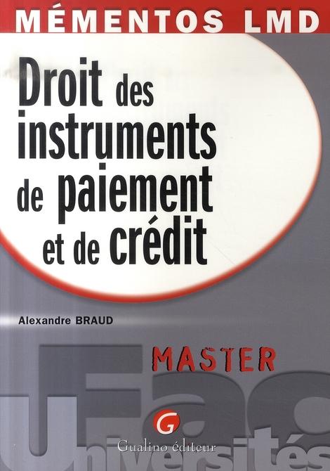 MEMENTOS LMD - DROIT DES INSTRUMENTS DE PAIEMENT ET DE CREDIT