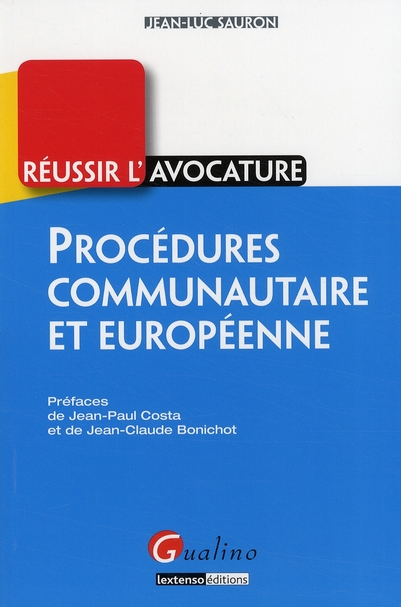 PROCEDURES COMMUNAUTAIRES ET EUROPEENNE