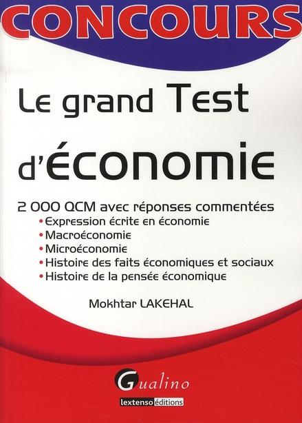 LE GRAND TEST D'ECONOMIE