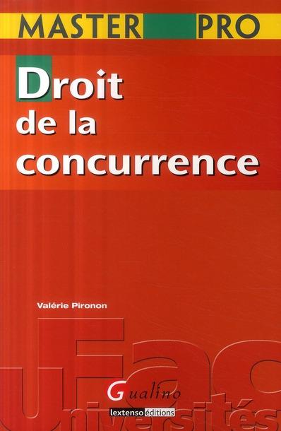 MASTER PRO- DROIT DE LA CONCURRENCE