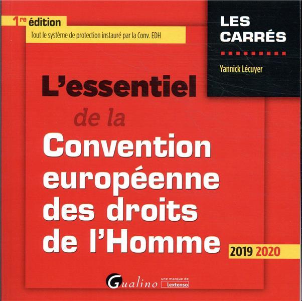 L'ESSENTIEL DE LA CONVENTION EUROPEENNE DES DROITS DE L'HOMME - TOUT LE SYSTEME DE PROTECTION INSTAU