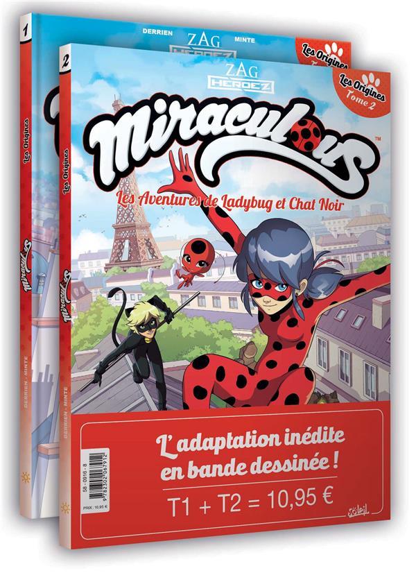 MIRACULOUS LES AVENTURES DE LADY BUG ET CHAT NOIR 02 - PACK T1 + T2