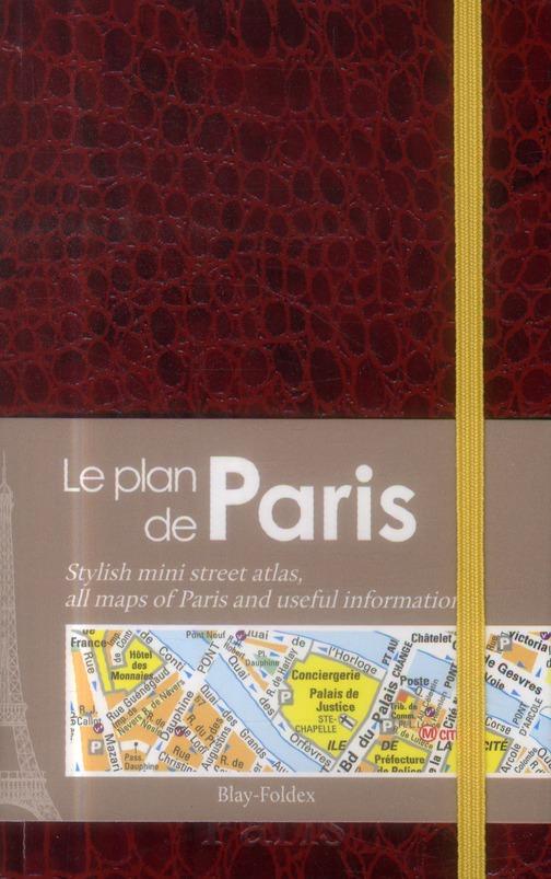 PARIS LE MINI PLAN CHIC ROUGE