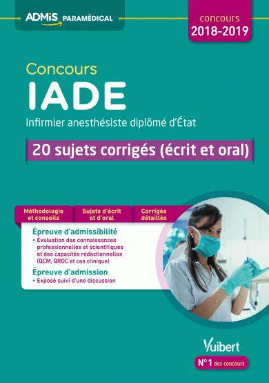 CONCOURS IADE 20 SUJETS CORRIGES 2018-2019