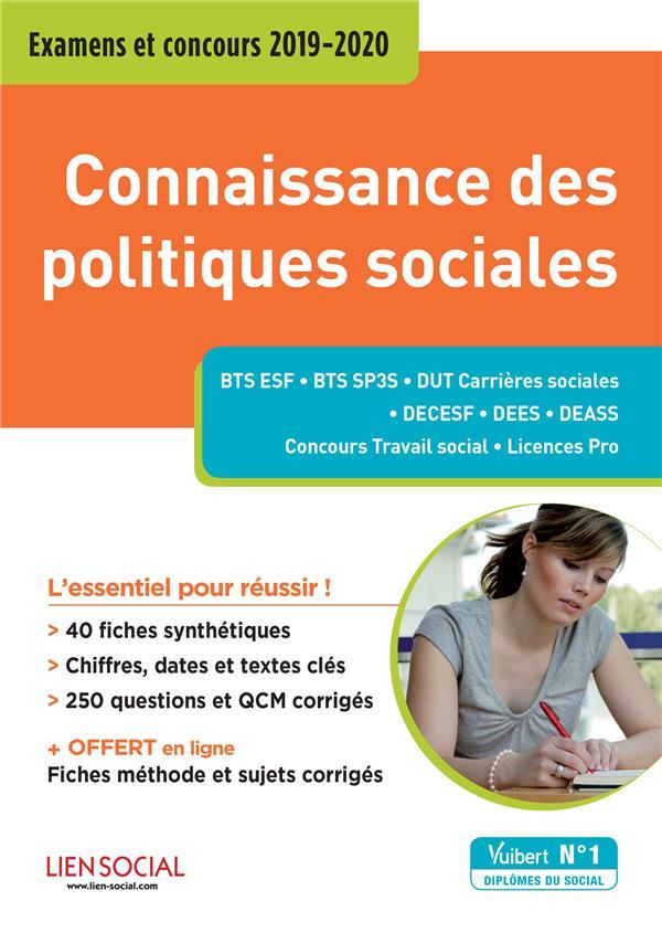 CONNAISSANCE DES POLITIQUES SOCIALES EXAMENS ET CONCOURS 2019-2020