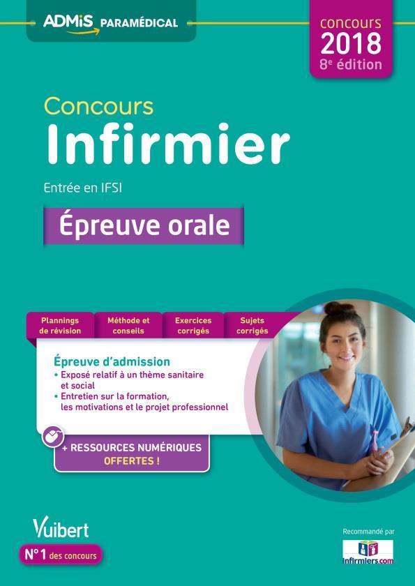 CONCOURS INFIRMIER - ENTREE EN IFSI - EPREUVE ORALE 8ED