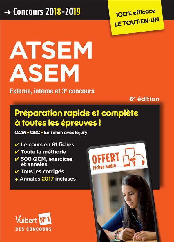 CONCOURS ATSEM ASEM 2018-2019 PREPARATION RAPIDE ET COMPLETE A TOUTES EPREUVES