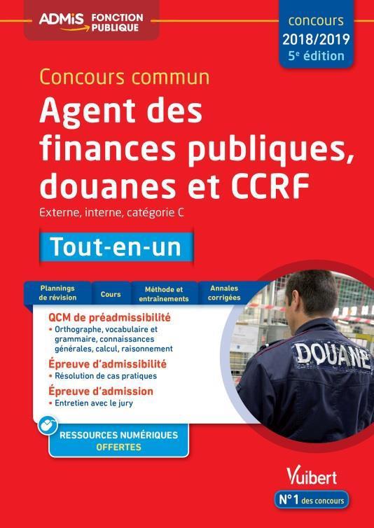 CONCOURS COMMUN AGENT FINANCES PUBLIQUES DOUANES ET CCRF CAT C TOUT-EN-UN