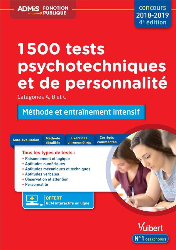1500 TESTS PSYCHOTECHNIQUES ET DE PERSONNALITE
