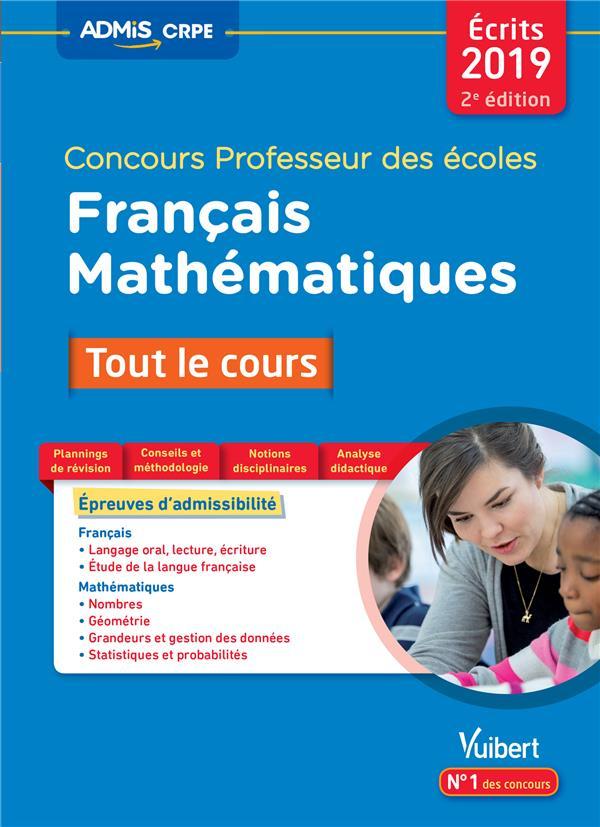 CONCOURS PROFESSEUR DES ECOLES TOUT LE COURS FRANCAIS ET MATHEMATIQUES 2ED