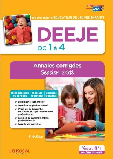 DEEJE EPREUVES DE CERTIFICATION DC 1 A 4 ANNALES CORRIGEES 9ED