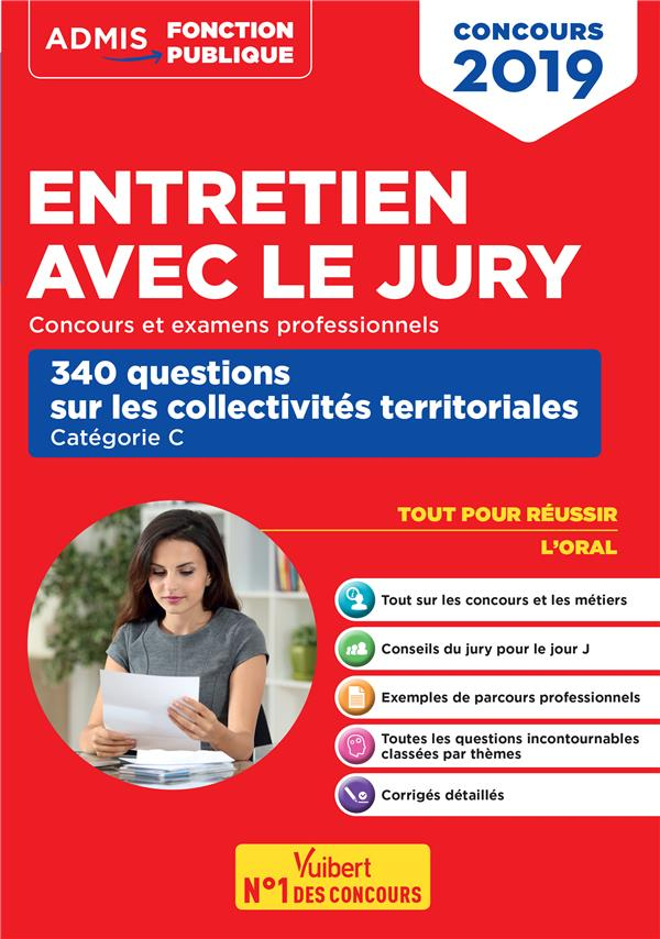 CONCOURS 2019 ENTRETIEN JURY 340 QUESTIONS COLLECTIVITES TERRITORIALES